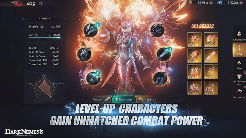 Dark Nemesis Inifinite Quest - Level Up Characters Gain Unmatched Combat Power