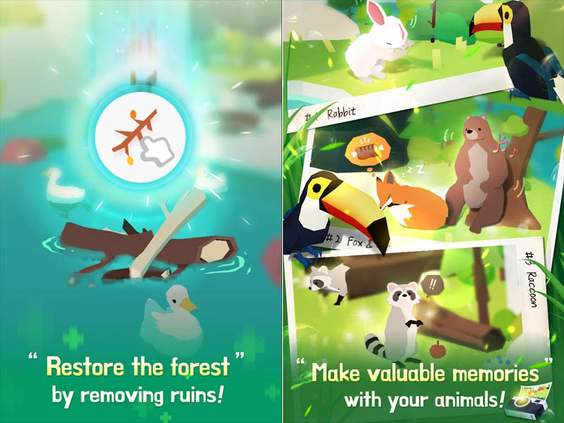 Forest Island - Restore the forest Make valuable memories