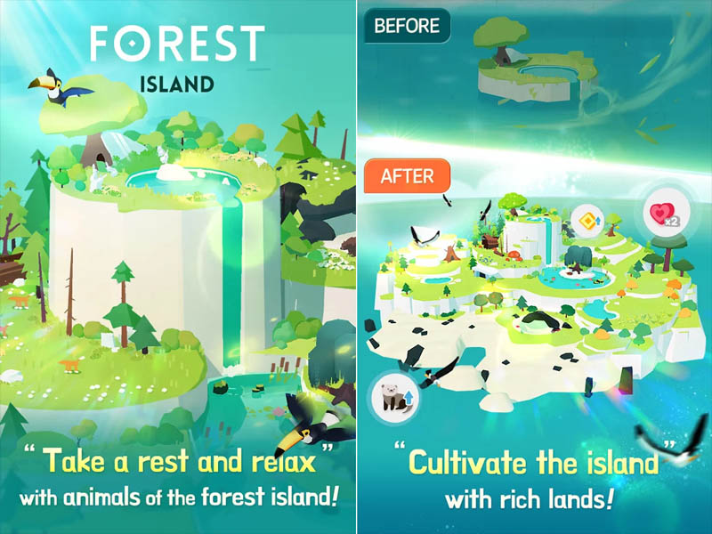 Forest Island - Take a rest and relax Cultivate the island