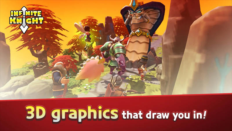 Infinite Knight - 3D graphics that draw you in