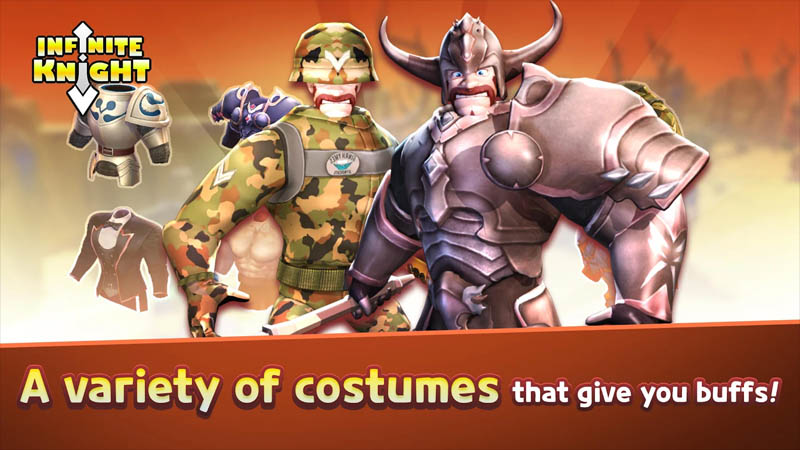 Infinite Knight - A variety of costumes that give you buffs