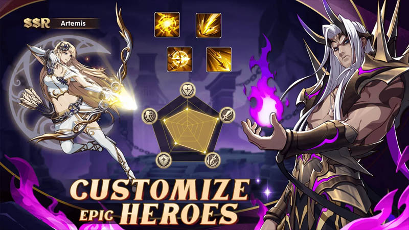 Mythic Heroes Idle RPG - Customize Epic Heroes