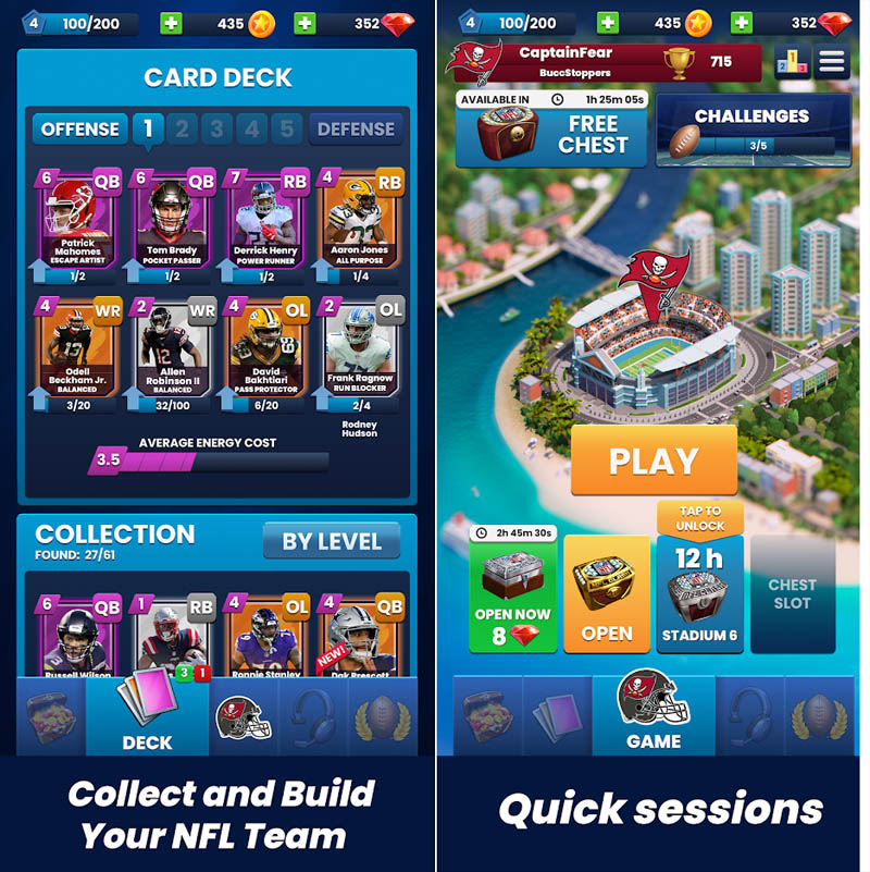 NFL Clash - Collect and Build Your NFL Team Quick Sessions