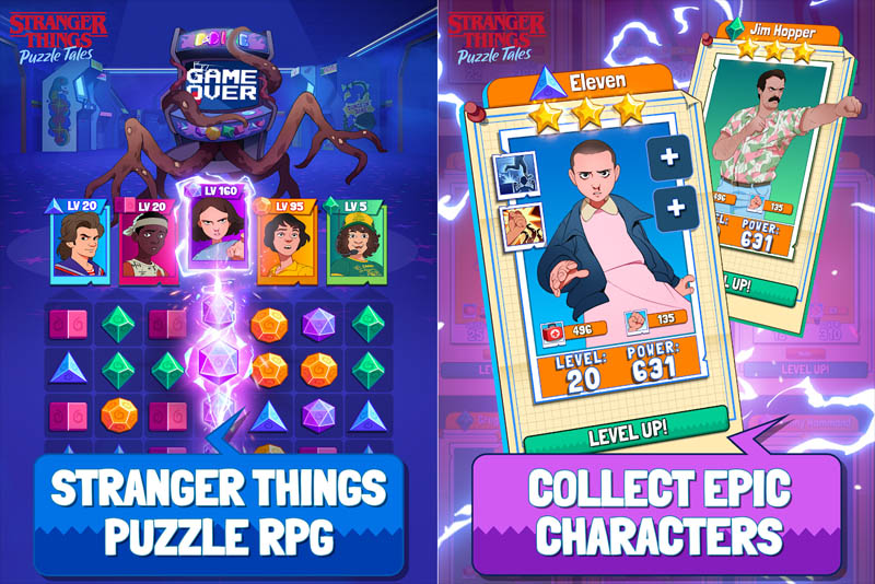 Stranger Things Puzzle Tales - Puzzle RPG Collect Epic Characters