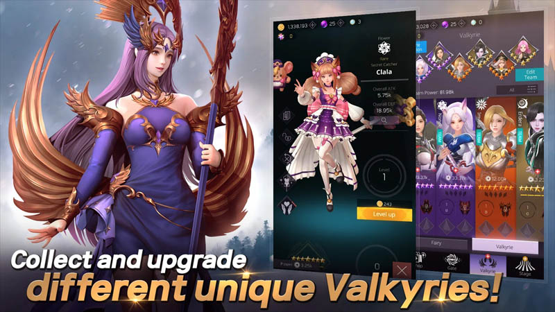 Valkyrie Rush - Collect and upgrade different unique Valkyries
