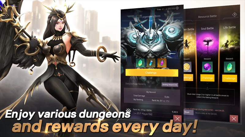 Valkyrie Rush - Enjoy various dungeons and rewards every day