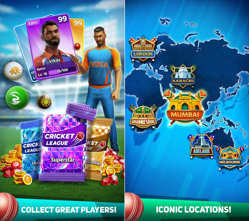 Cricket League - Collect Great Players Iconic Locations