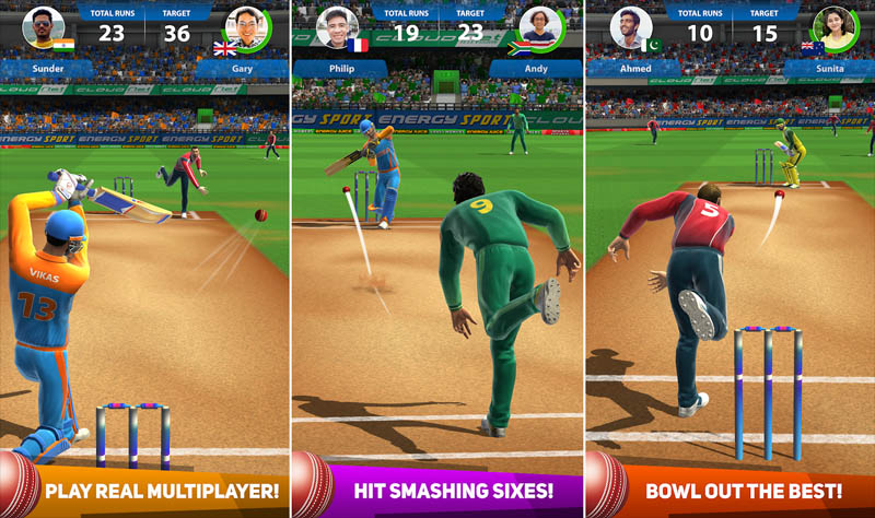 Cricket League - Play real multiplayer hit smashing sixes bowl out the best