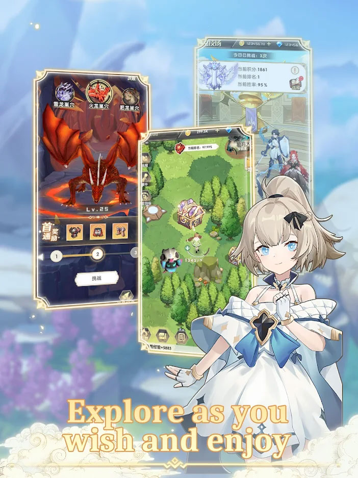 Dragon X Queen The Battle of Exile - Explore as you wish and enjoy