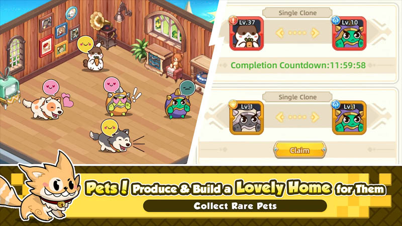 Heroes Quest AFK Explorer - Pets Produce and Build a Lovely Home for them