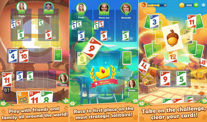 Skip Bo - Play with friends and family race to first place take on challenge cards
