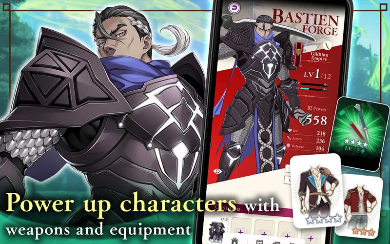 Tales of Luminaria - Power up characters with weapons and equipment